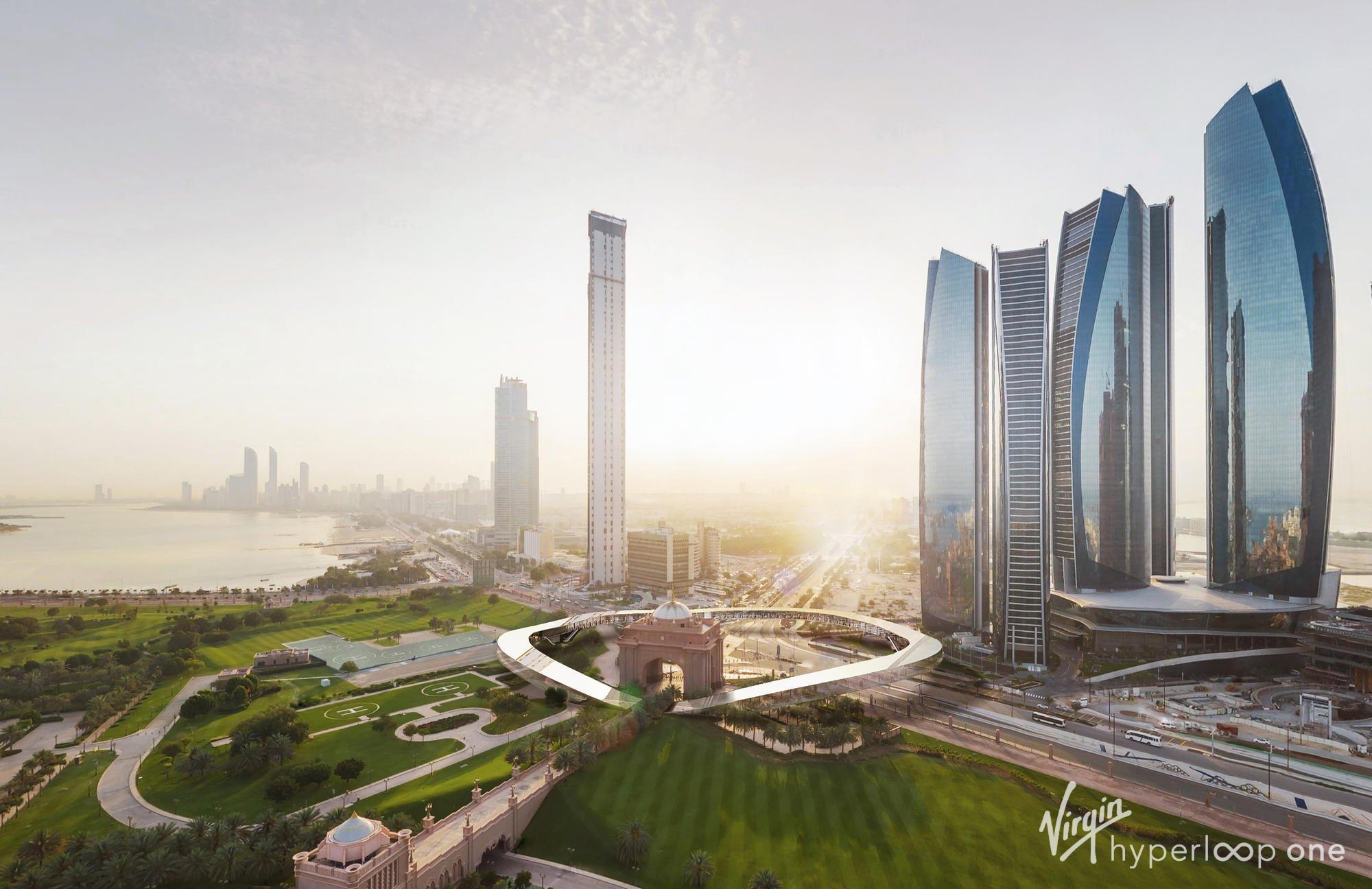 Рендер потенційної станції Hyperloop в Дубаї