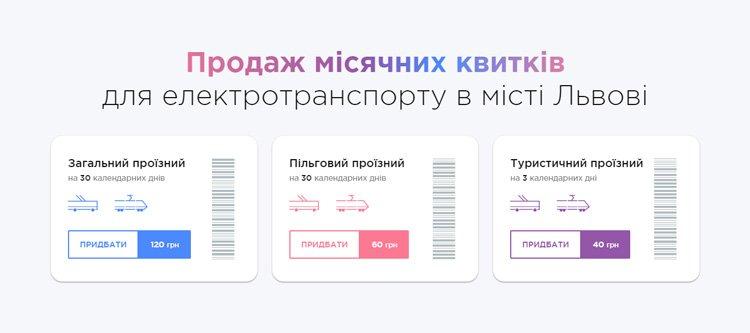 Проїзні на електротранспорт Львова тепер можна купувати онлайн