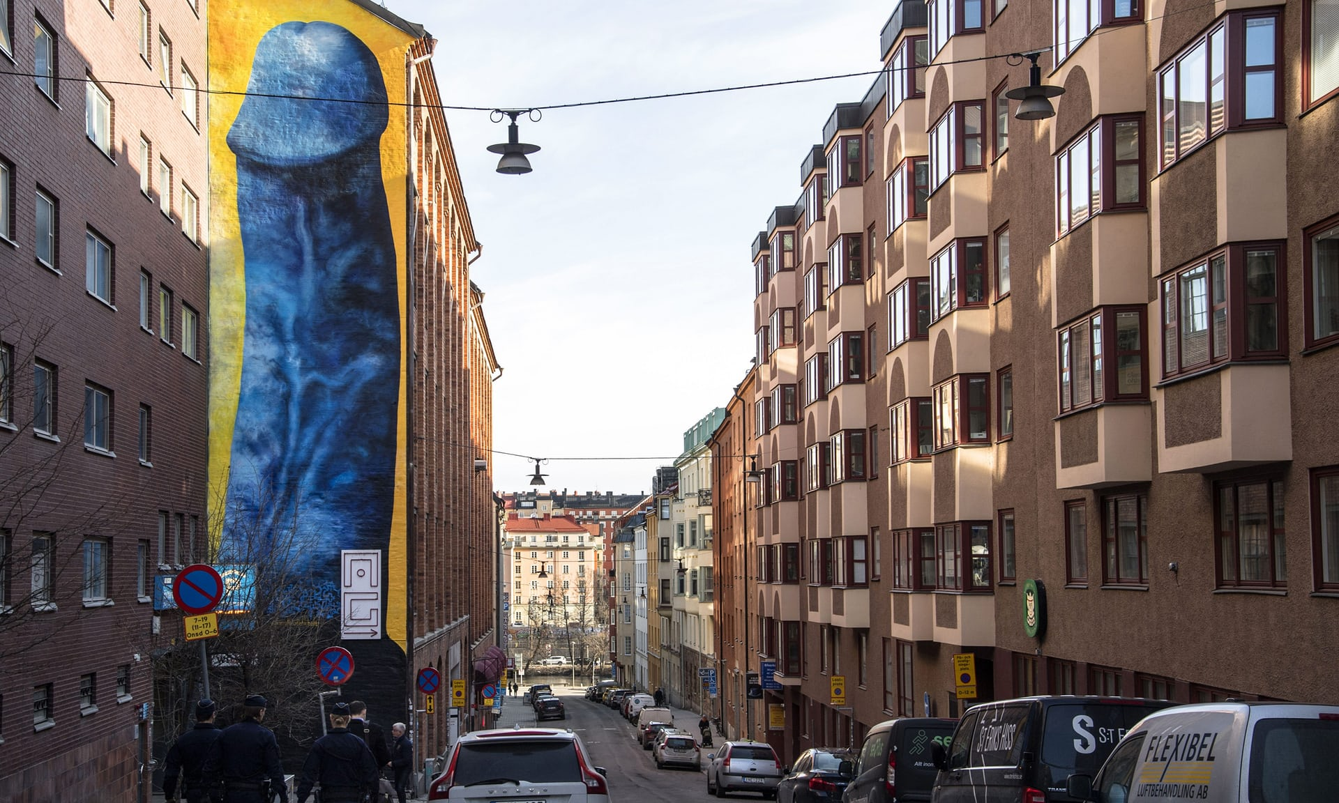 Мурал із зображенням пеніса у Стокгольмі