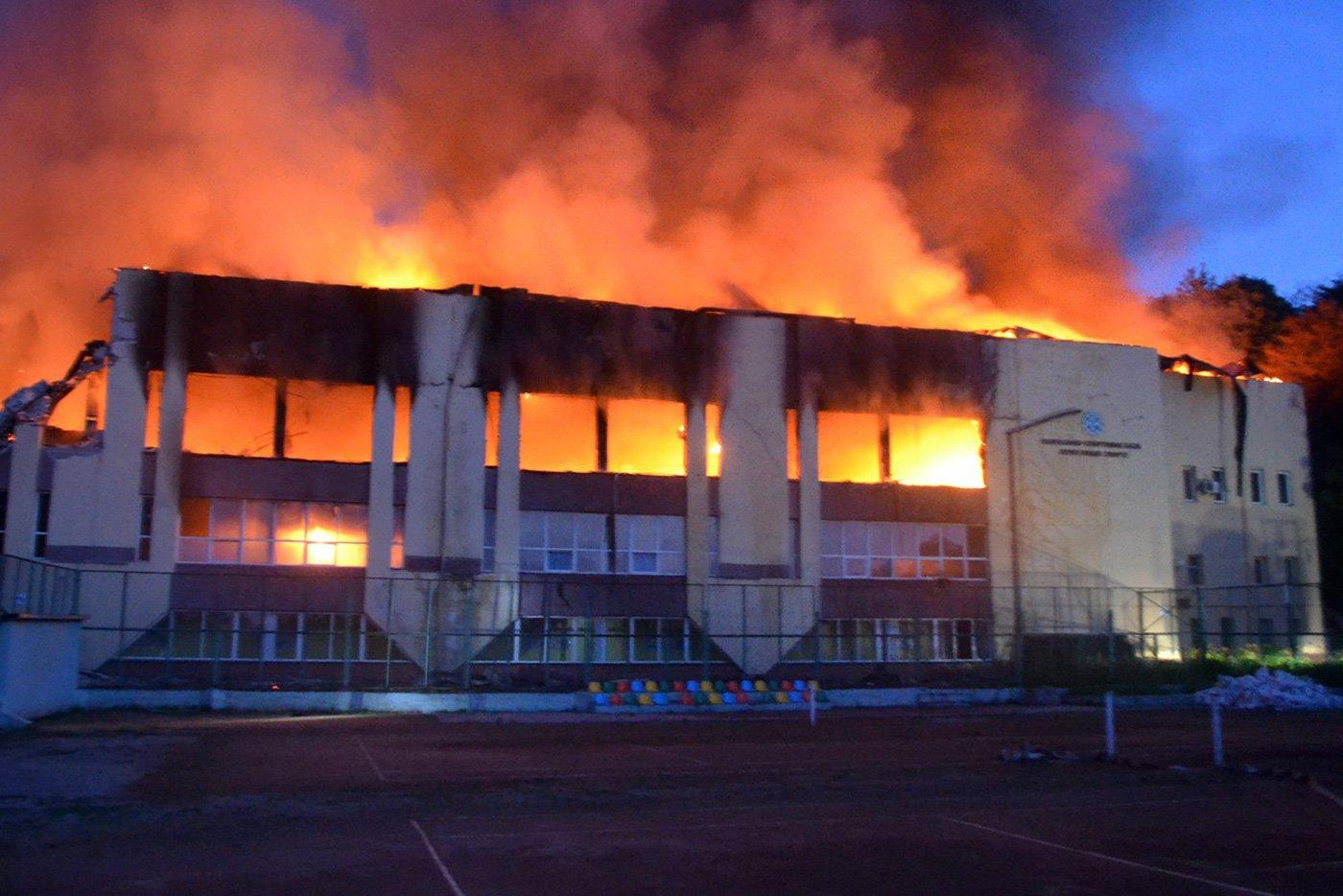 Пожежа на стадіоні СКА