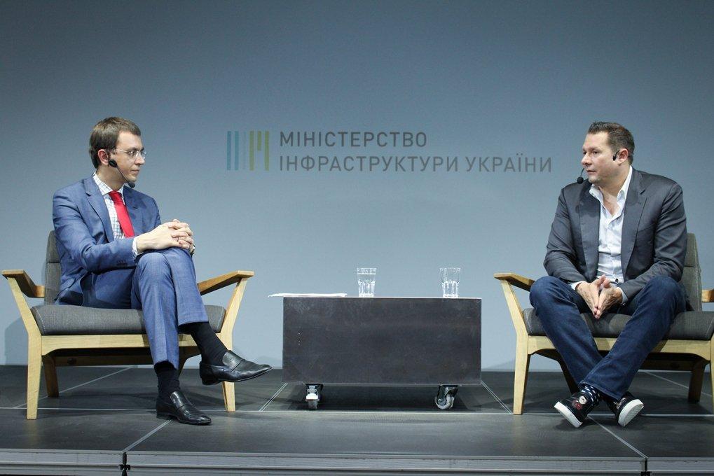 Міністр інфраструктури Володимир Омелян та головний виконавчий директор HTT Дірк Алборн