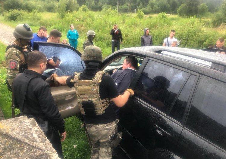 Затримання мера м. Сколе Володимира Москаля