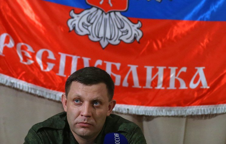 Глава так званої ДНР Олександр Захарченко