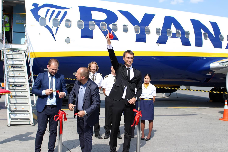 Аеропорт «Бориспіль» зустрів перший рейс авіакомпанії Ryanair  — «Берлін-Київ»