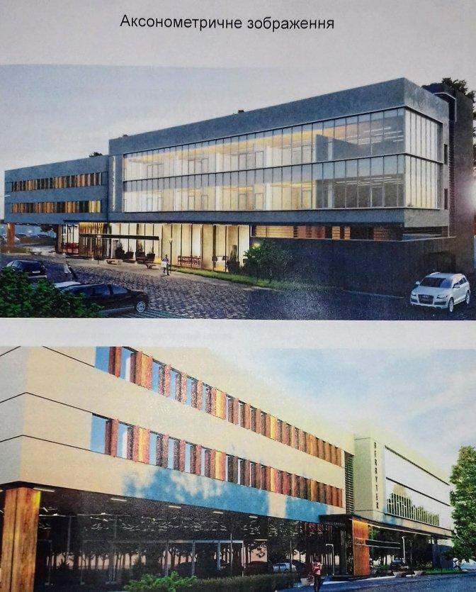Візуалізація офісного будинку з вбудованими апартаментами / ЛМР