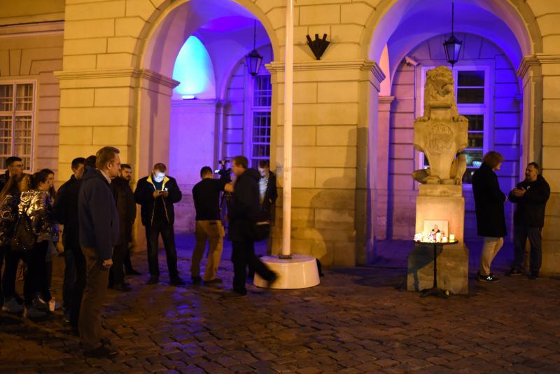 У Львові влаштували акцію пам'яті активістки Катерини Гандзюк